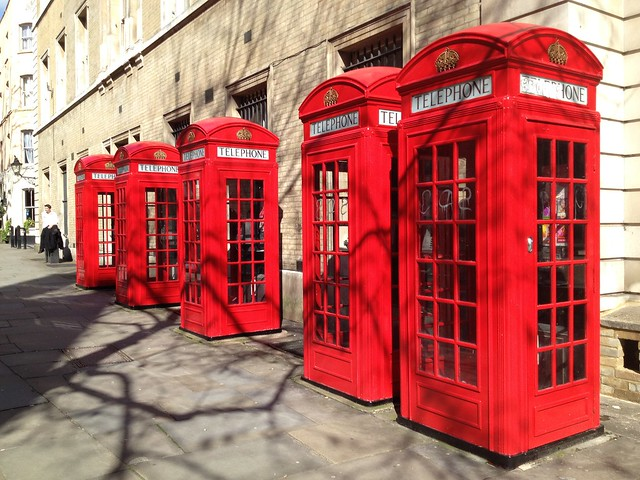 K2 red telephone boxes, Broad Street, Covent Garden