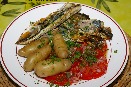 Mackerel fillets with a tomato salad by La belle dame sans souci