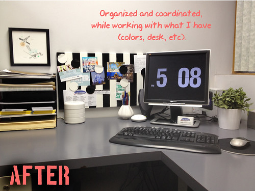 Office Desk Before and After Redesign