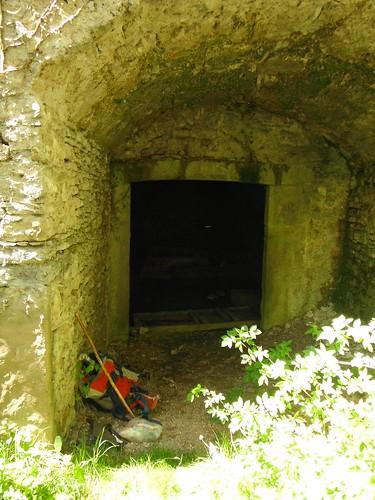 Entrada a l'obrador del molí del Bosc