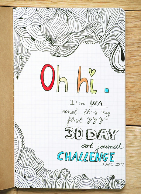 15 Day Art Journal Challenge - Day 1