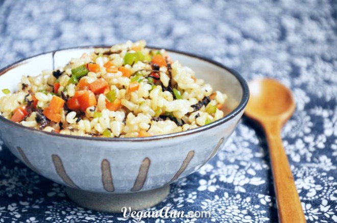 fried brown rice with meicai3