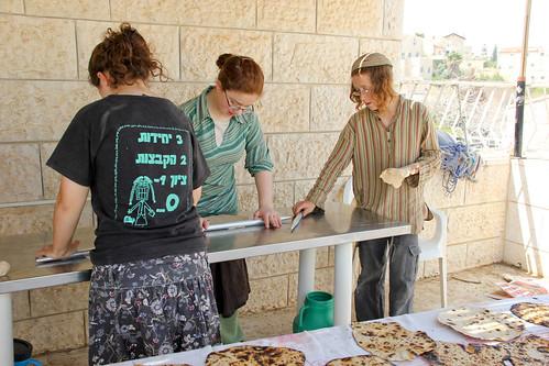 Baking Matzah