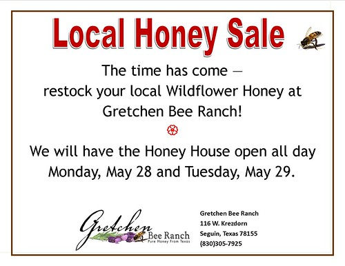 2012 Honey Sale Flyer