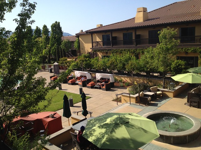 Outdoor lounge and pool area, The Lodge at Sonoma