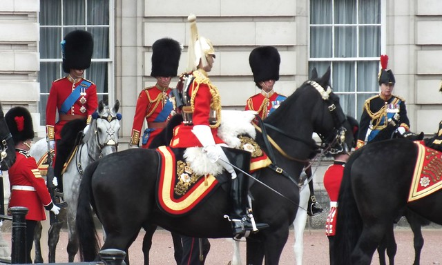 Princess Anne at Queens Trooping the colour 2012