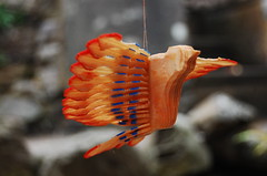 wooden fan bird