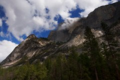 Clouds over the Half Dome