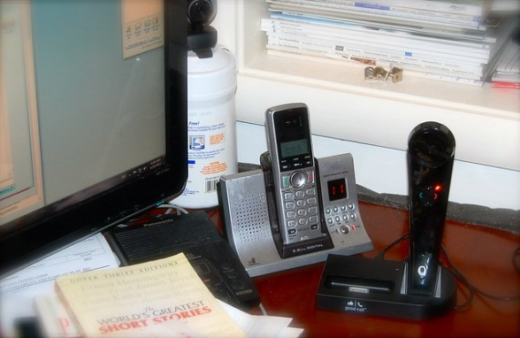 Good Call handset on desk