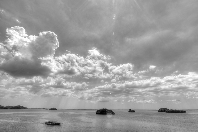 Hundred Islands in Black and White