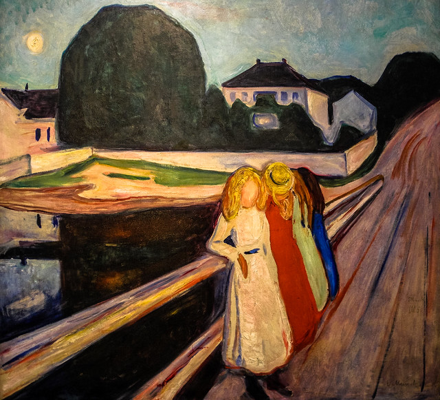 Edvard Munch Four Girls On The Bridge 1905 At Wallraf