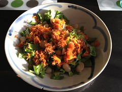 Mixed salad with miso dressing