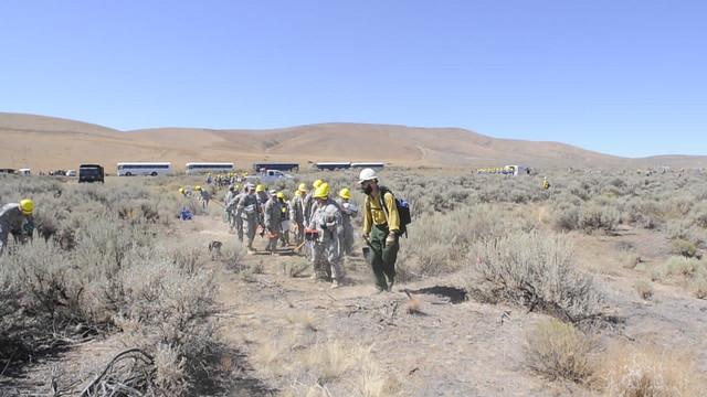 BLM Oregon firefighters train Washington National Guard