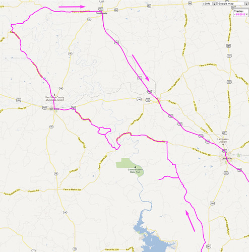 6-9-2012 Ride-Route