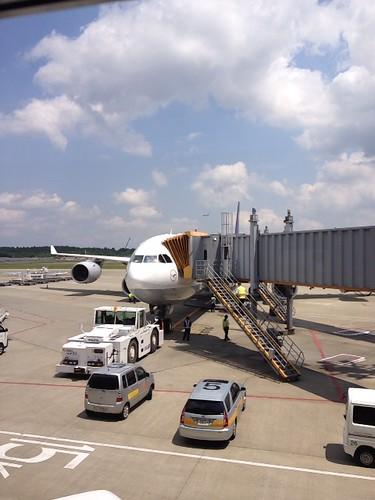 ルフトハンザの飛行機