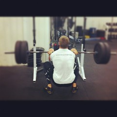 Full depth on the front squat!