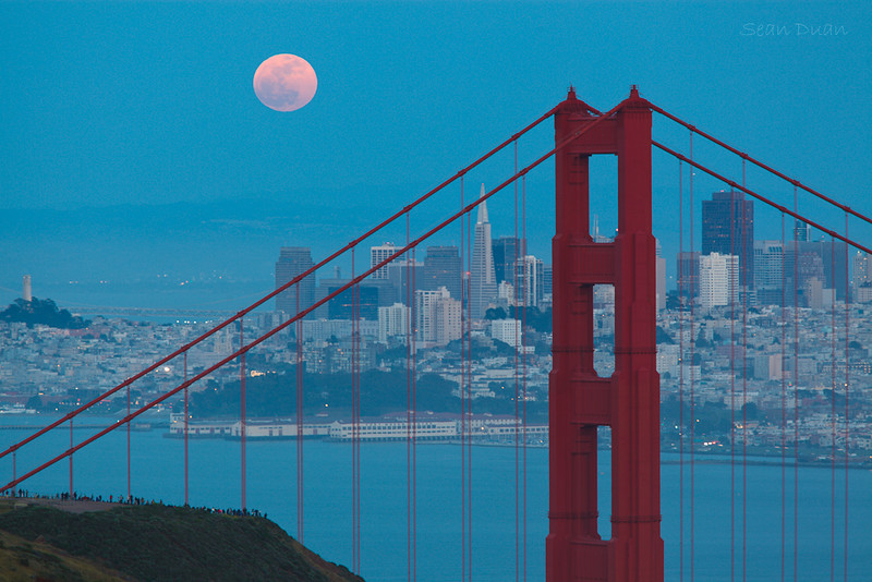 Supermoon on San Francisco
