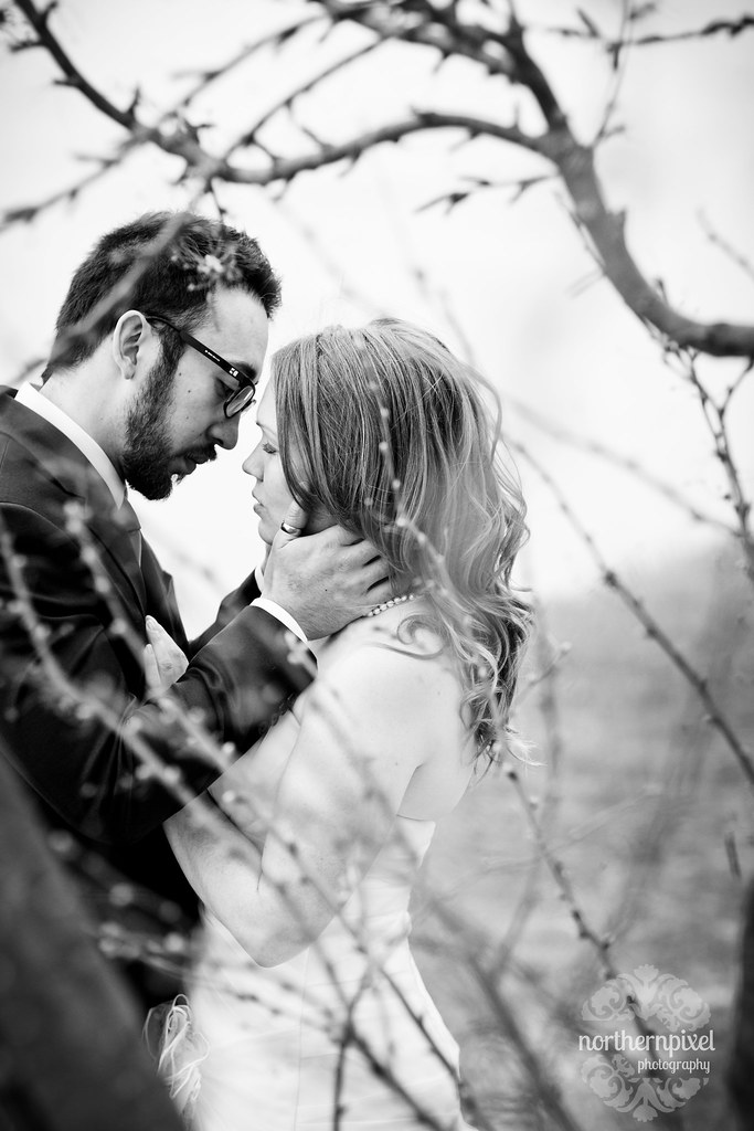 Fort George Park First Look Session Prince George BC Wedding