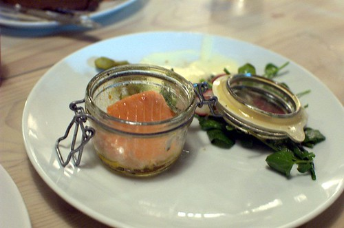 Salmon Cooked in a Jar