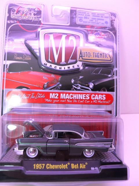m2 machines autothentics 1957 chevy bel air gray (1)