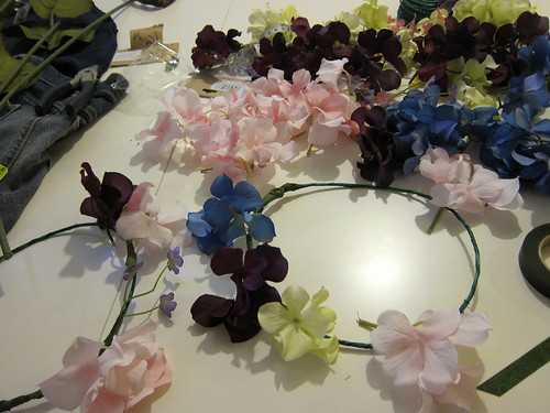 Making Flower Crowns