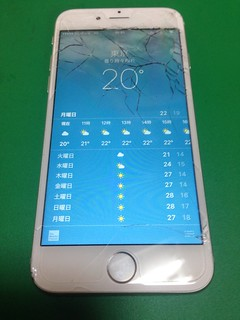 95_iPhone6のフロントパネルガラス割れ