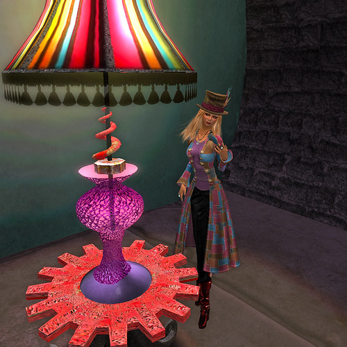 Coat, Hat and Lamps of many colours!