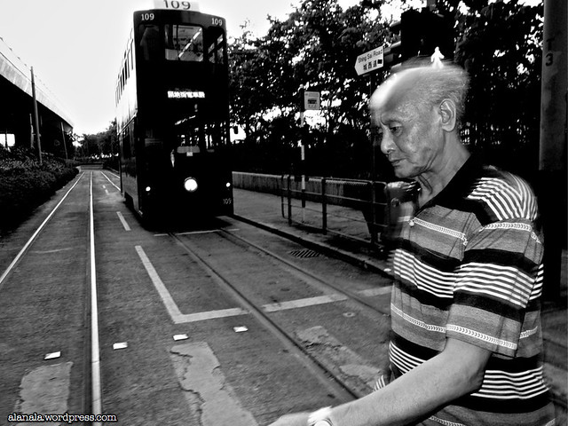 Man and a tram