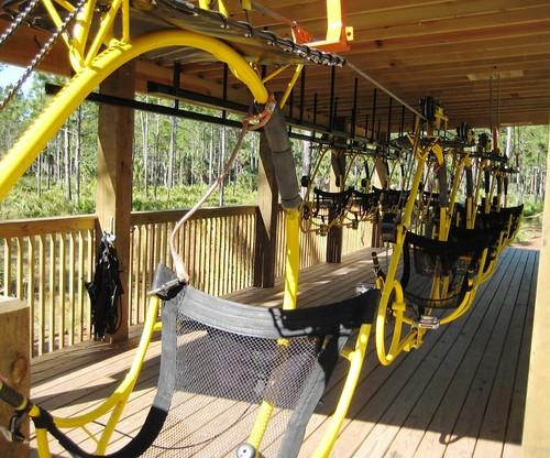 Yellow Cypress Canopy Cycles Florida EcoSafaris St. Cloud Fla. & Pedaling through the Treetops at Florida EcoSafaris Near Orlando ...