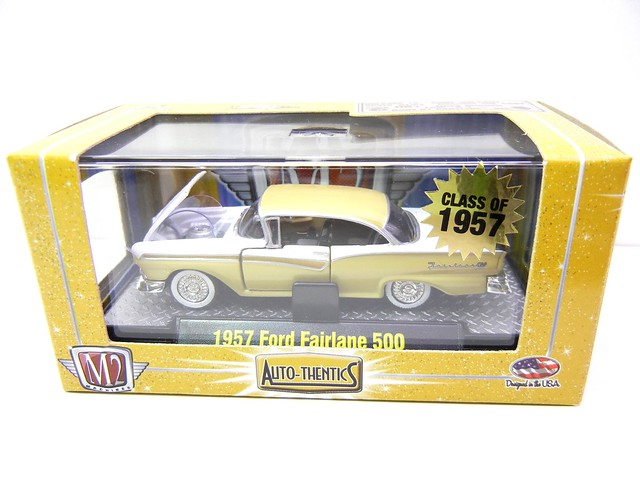 m2 autothentics 1957 ford fairlane 500 yellow