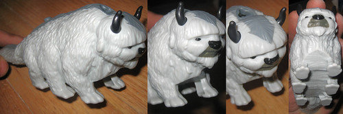20120519 - yardsale booty - toy - action figure - Avatar- The Last Airbender - Appa - IMG_4190-4196-4191-4193 (quadtych)