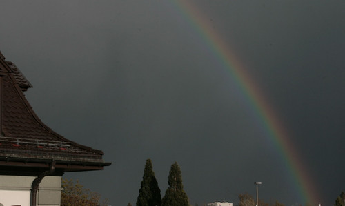rainbow over Rapperswil