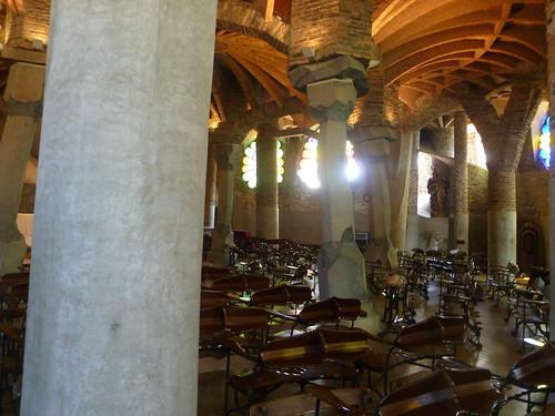 interno Cripta Guell, Barcellona