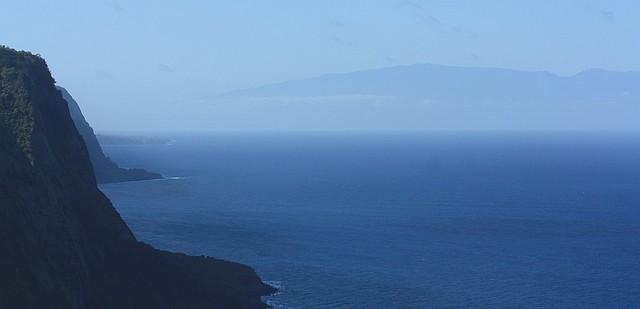 Waipio Valley, Ainahou Cape, Waimanu Valley, Hamakua Coast, Big Island, Hawaii