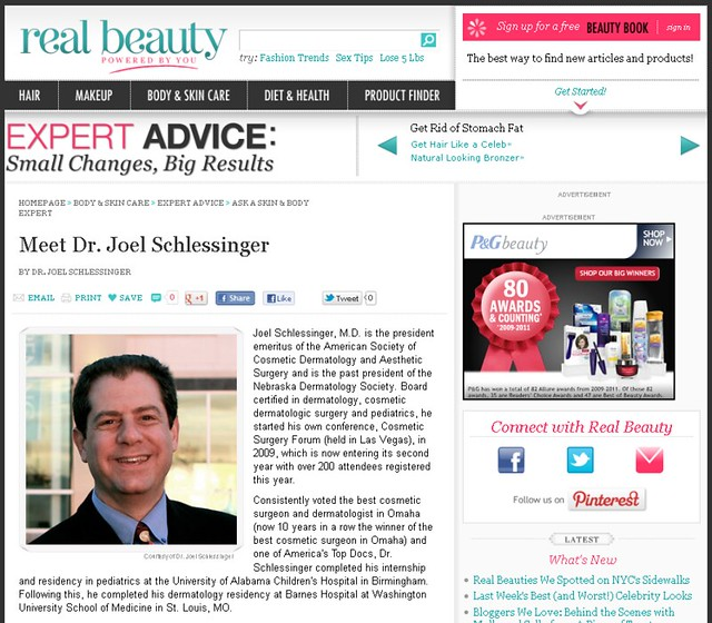 Real Beauty Magazine - Profile of Joel Schlessinger MD