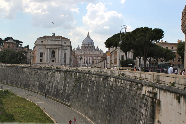 St Peter's from Ponte Sant'Angelo