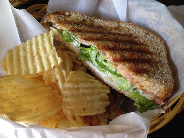 Viejo San Juan panini Cafe Cuatro Sombras