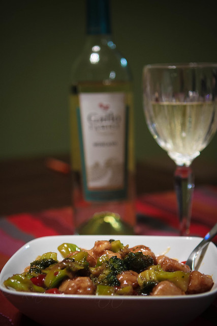 stir fry with moscato