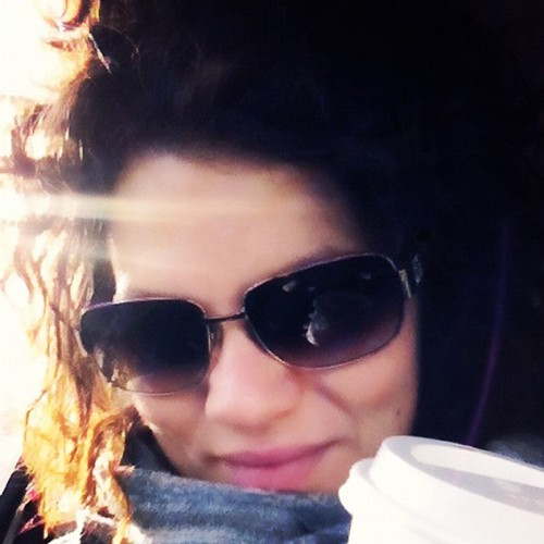 #photoadayjune - Morning, sun flare through my car window and a perfect flat white.