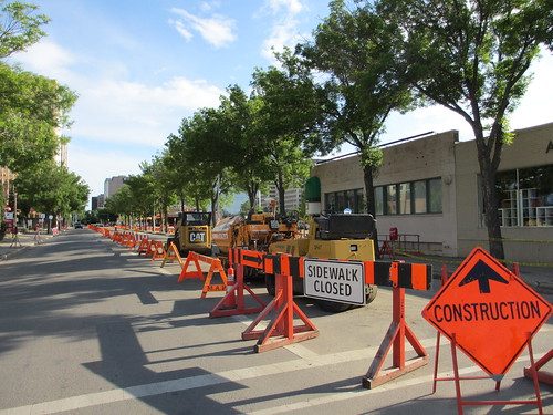 Construction on 106 Street