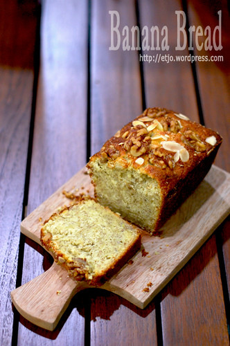 Banana Walnut Parmegiano Bread
