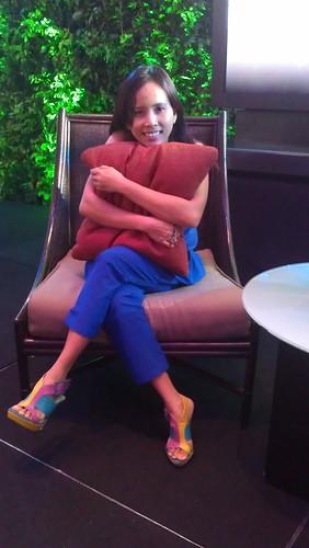 hugging Ian Somerhalder's pillow