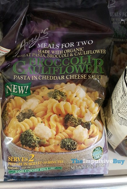 Amy's Meals for Two Broccoli Cauliflower Pasta in Cheddar Cheese Sauce