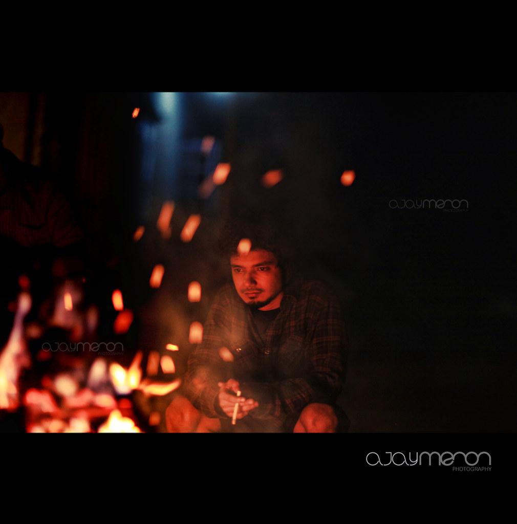 ajay menon india fire night