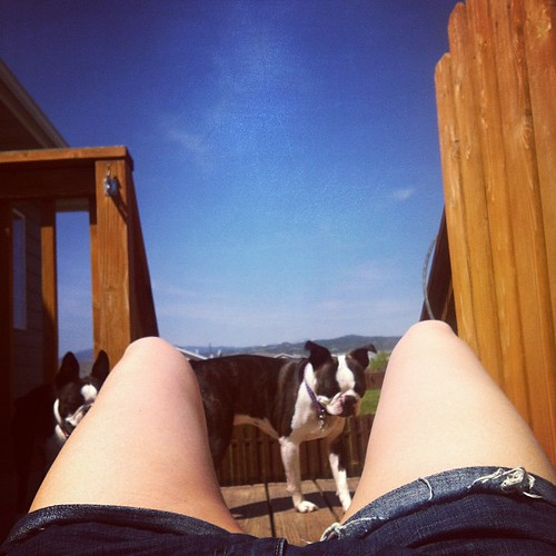 Getting our tan on.