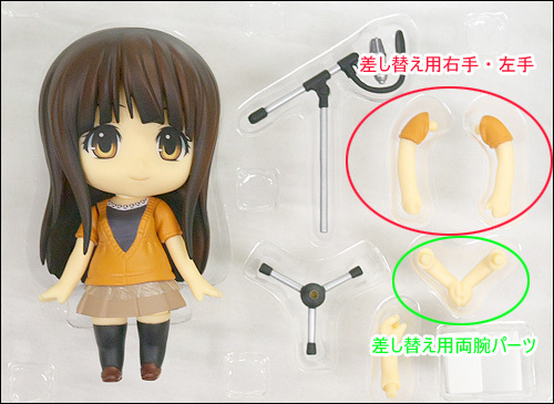 Nendoroid Azuki Miho with the arms parts in issue