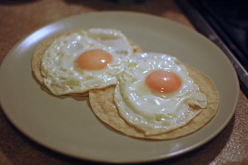 Eggs on Tortillas