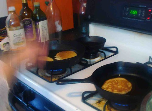 Pancakes in the pan