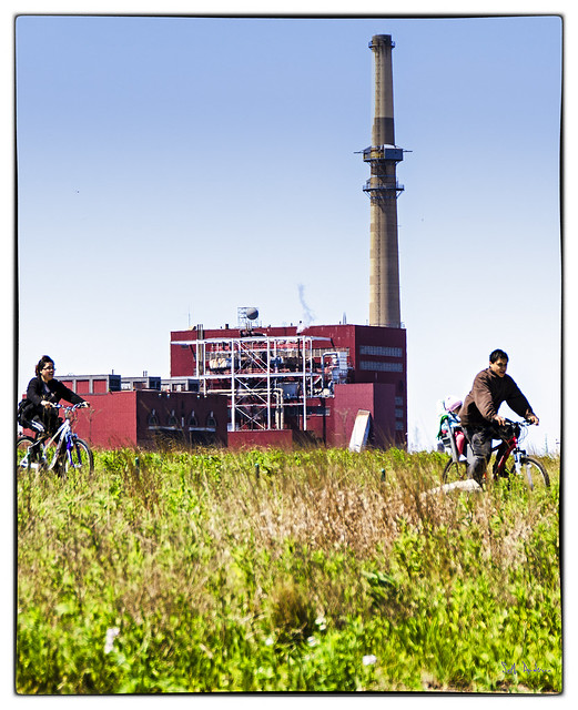 Biking at Henry Palmisano Park