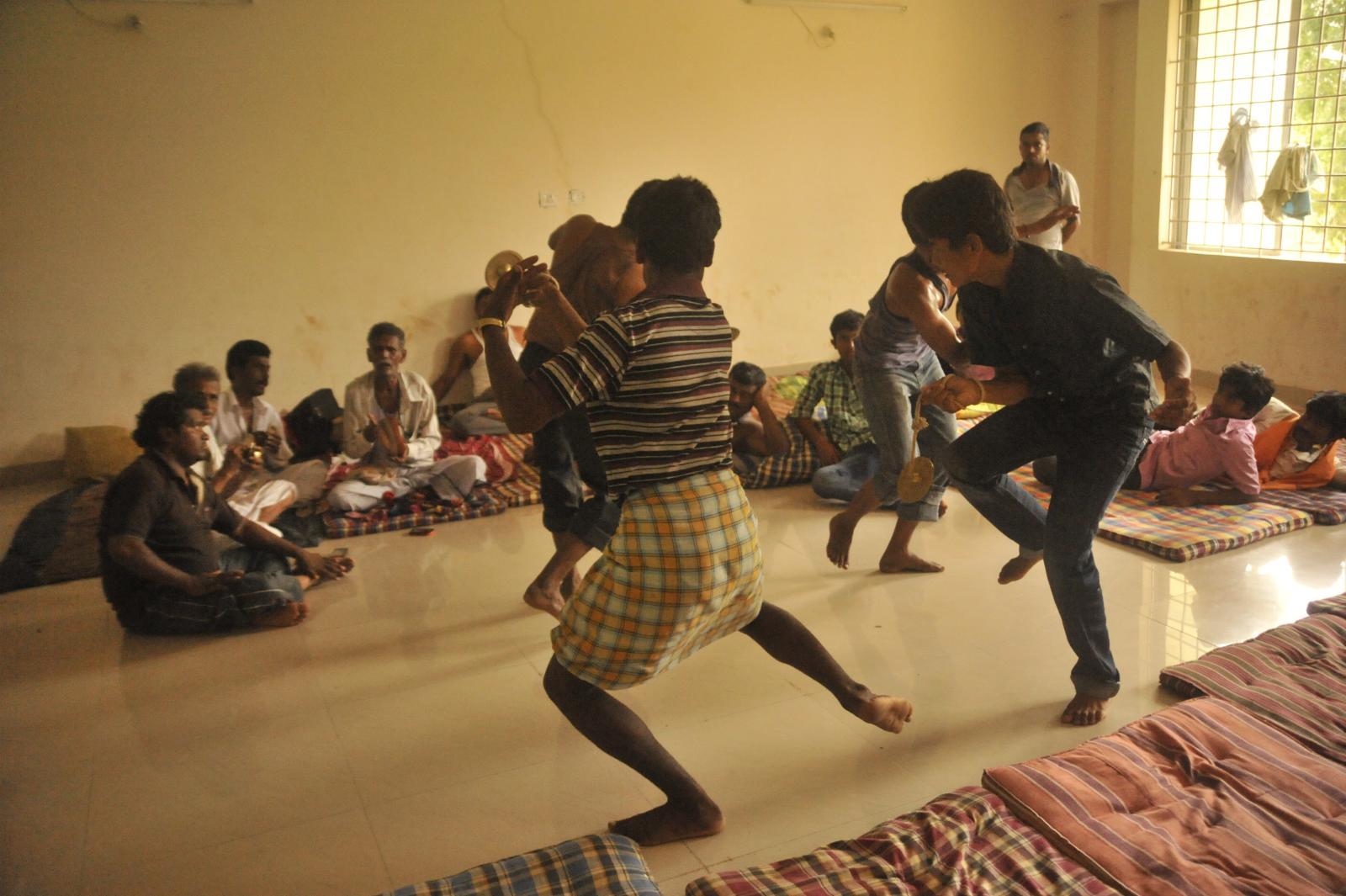 Folk dance practice, Karnataka